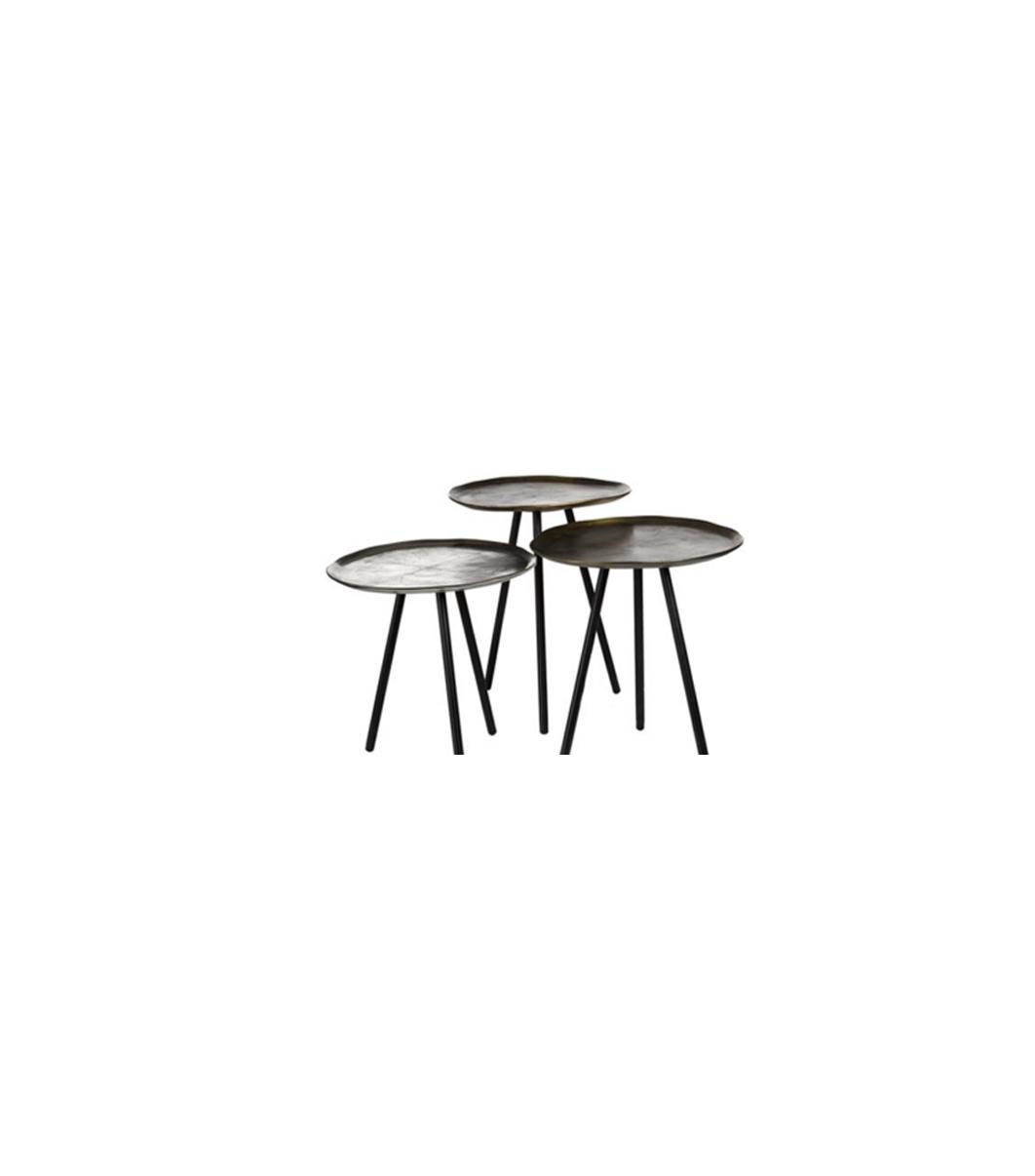 tables d 39 appoints m tal lm 9 l 39 autre maison. Black Bedroom Furniture Sets. Home Design Ideas